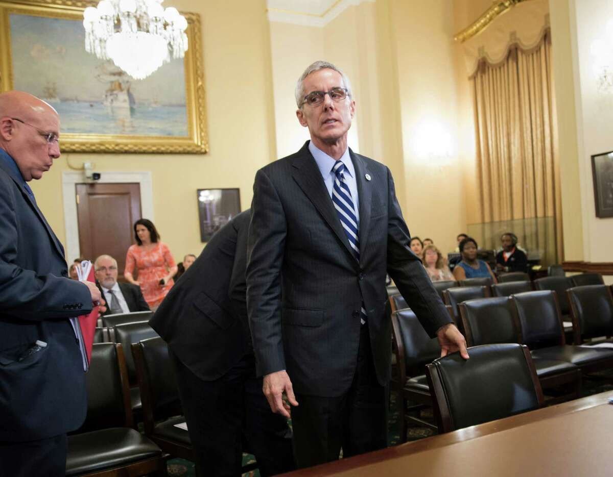 Transportation Security Administration (TSA) chief Peter Neffenger arrives on Capitol Hill in Washington, Wednesday, May 25, 2016, to testify before the House Homeland Security Committee which is looking for answers on how to balance security with long lines at airport checkpoints. (AP Photo/J. Scott Applewhite) ORG XMIT: DCSA104