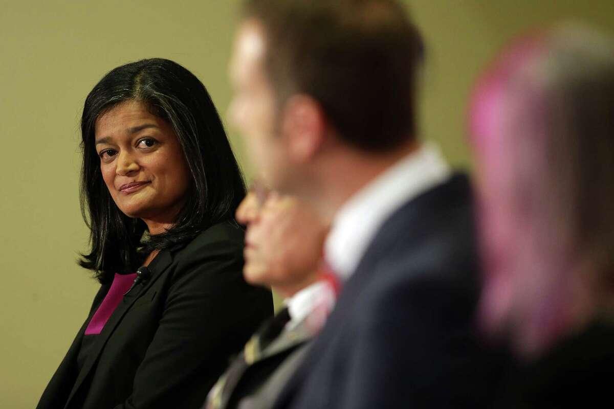 State Sen. Pramila Jayapal, D-Seattle, takes big lead in race to succeed retiring U.S. Rep. Jim McDermott. .
