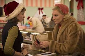 CAROL: This is lesbian love story that has lots of social context. Set in the 1950s, it's about a newly separated woman and a fairly aimless unformed young woman who slowly fall in love. With Cate Blanchett and Rooney Mara.