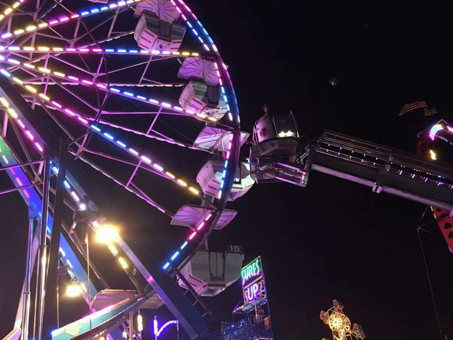 Stratford firefighters rescue carnival-goers from stuck ride. Photo: Stratford Firefighters Union / Via Facebook