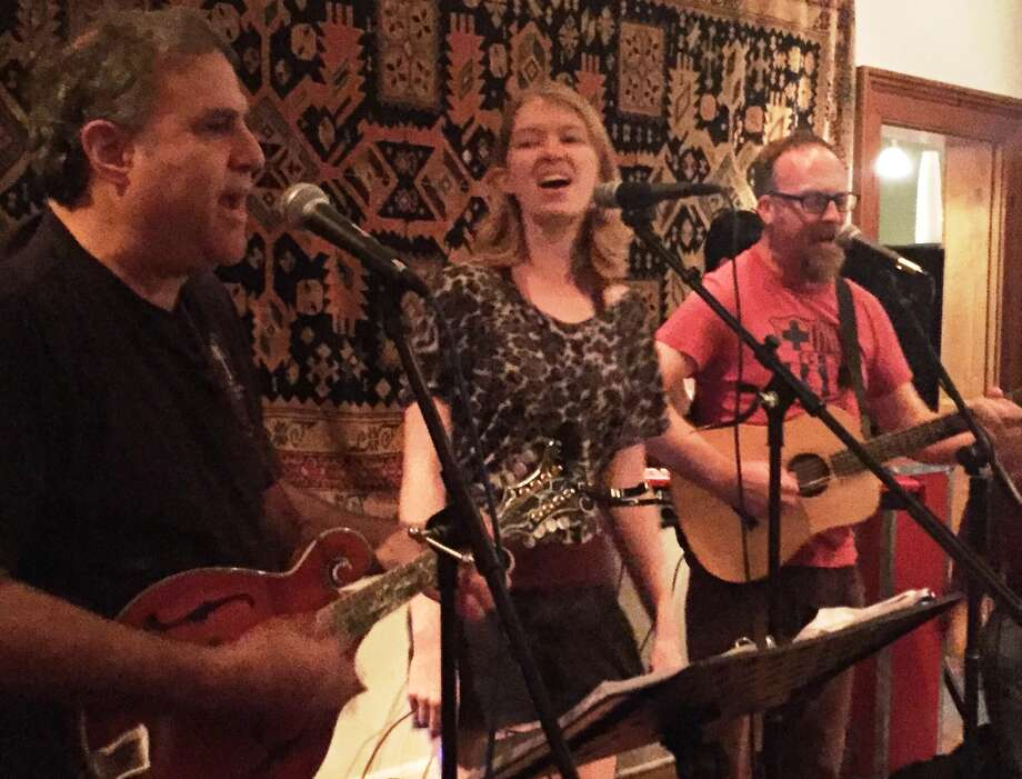 Matthew Rose (right), Rachel Laven and Lewis Sussman, aka the offbeat folk band YesBodyElse,will close out a residency Tuesday at The Liberty Bar. Photo: Hector Saldaña / San Antonio Express-News
