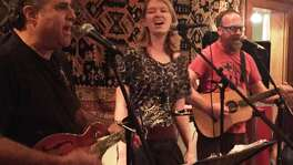 Matthew Rose (right), Rachel Laven and Lewis Sussman, aka the offbeat folk band YesBodyElse,will close out a residency Tuesday at The Liberty Bar.