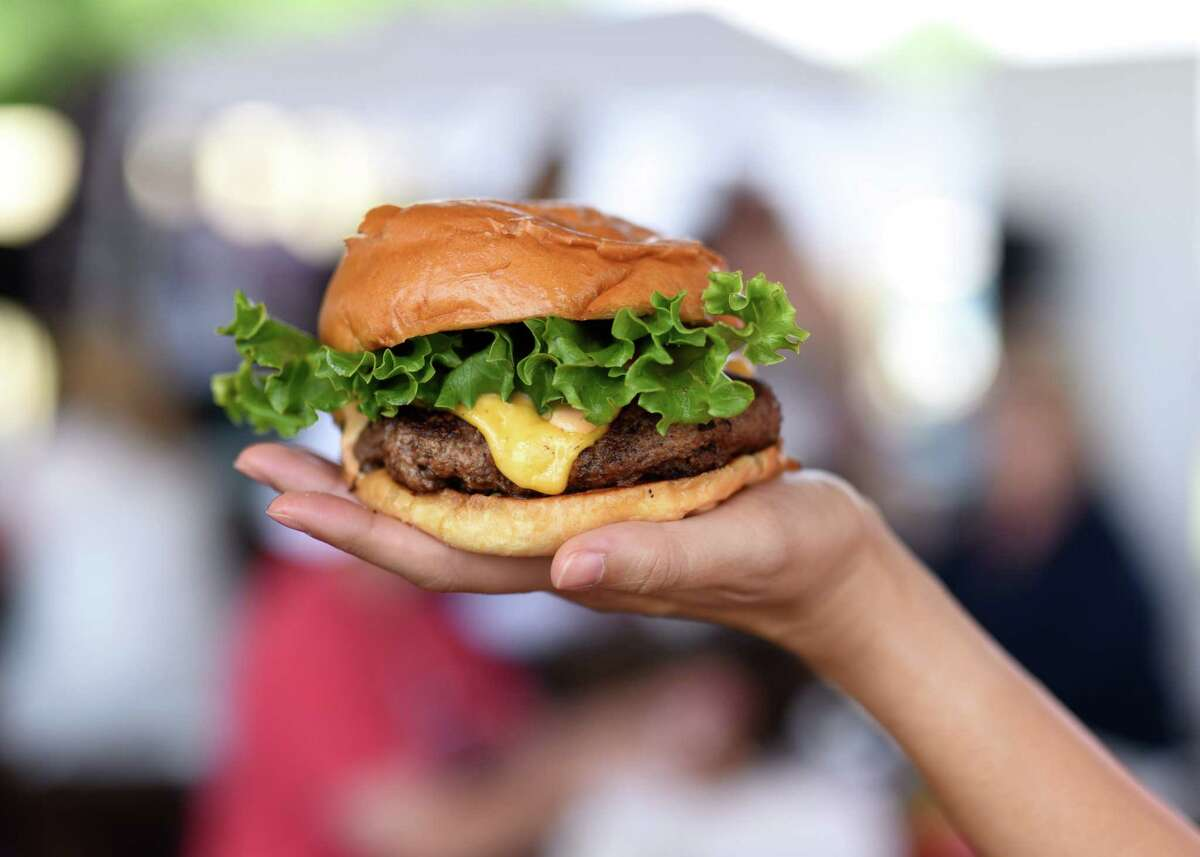 Burgers shown from a pop-of of Killen's Burgers which intends to open at 2804 S. Main in Pearland (the former home of Killen's Steakhouse) on May 28, National Burger Day.
