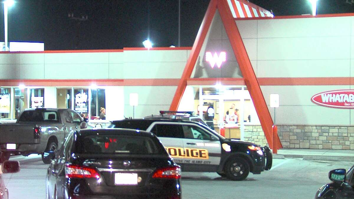 San Antonio Police officers are searching for a man suspected of robbing a Whataburger and Pizza Hut on Wednesday night.