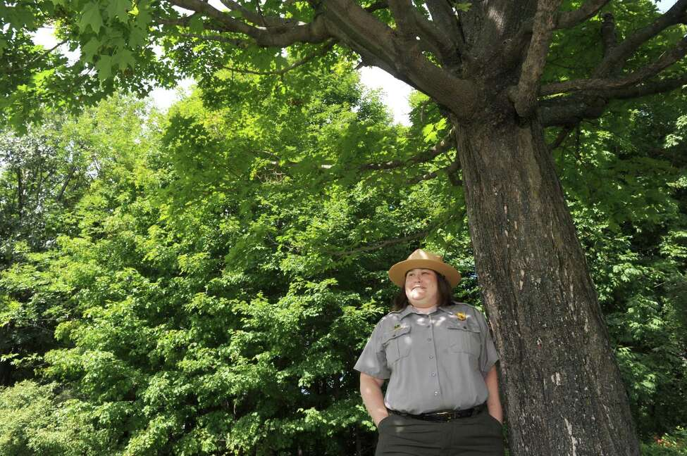 Amy Brooke Bracewell who was recently appointed superintendent of the Saratoga National Historical Park at the park on Friday Aug. 7, 2015 in Stillwater, N.Y. (Michael P. Farrell/Times Union)