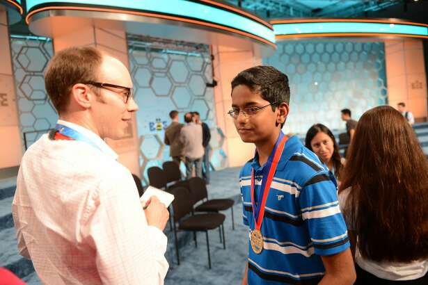 Shourav Dasari, 13, from McCullough Junior High in Conroe ISD, qualified for the final round of the Scripps National Spelling Bee.