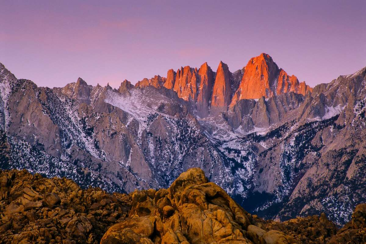 The highest point in the contiguous United States: Mount Whitney With an elevation of 14,505 feet, this Sierra Nevada peak is the highest in the continental U.S. The summit of Mount Denali in Denali National Park, Alaska, is the highest point in all 50 states at 20,310 feet.