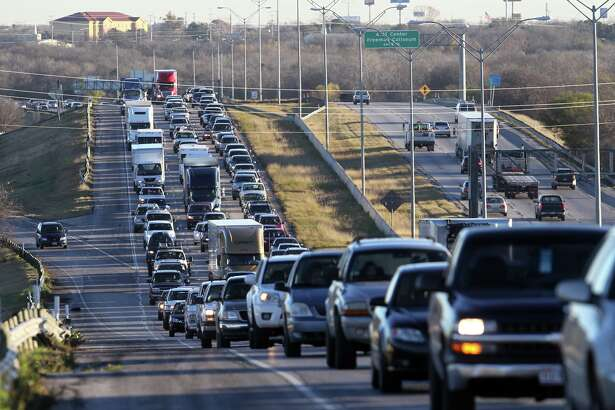 In this FILE PHOTO, traffic backs up on Interstate 10 west.