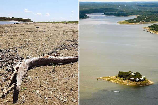 Lake Corpus Christi (left), Medina Lake (right)