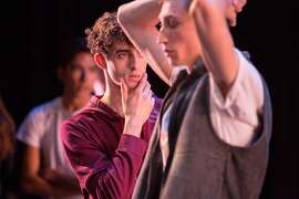 SCH16SSC_H2_9560.jpg  Davide Occhipinti and Nathaniel Remez backstage during San Francisco Ballet School's Student Showcase.  (� Chris Hardy)