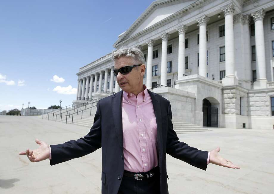 Tormer New Mexico Gov. Gary Johnson leaves the Utah State Capitol after meeting with with legislators in Salt Lake City. Photo: Rick Bowmer, Associated Press