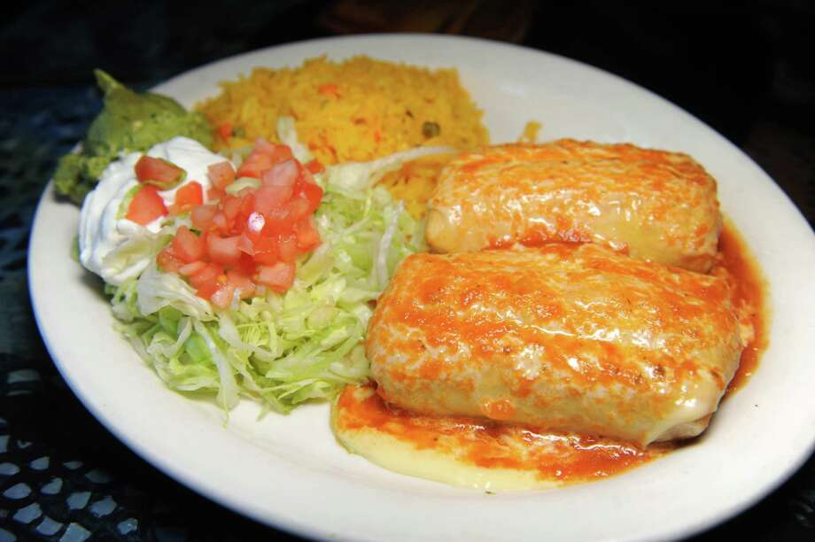 Chimichanga dinner on Friday, May 20, 2016, at El Patron in Albany, N.Y. (Cindy Schultz / Times Union) Photo: Cindy Schultz / Albany Times Union