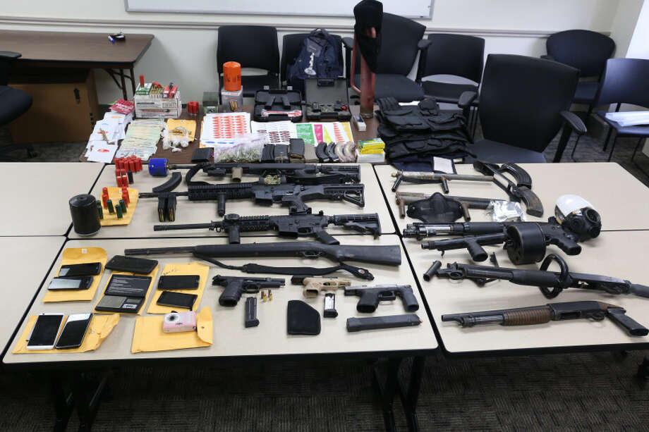 Corpus Christi police officers found several guns and types of drugs during a raid on a residence May 25, 2016, in the 1200 block of 17th Street. Photo: Courtesy/Corpus Christi Police Department