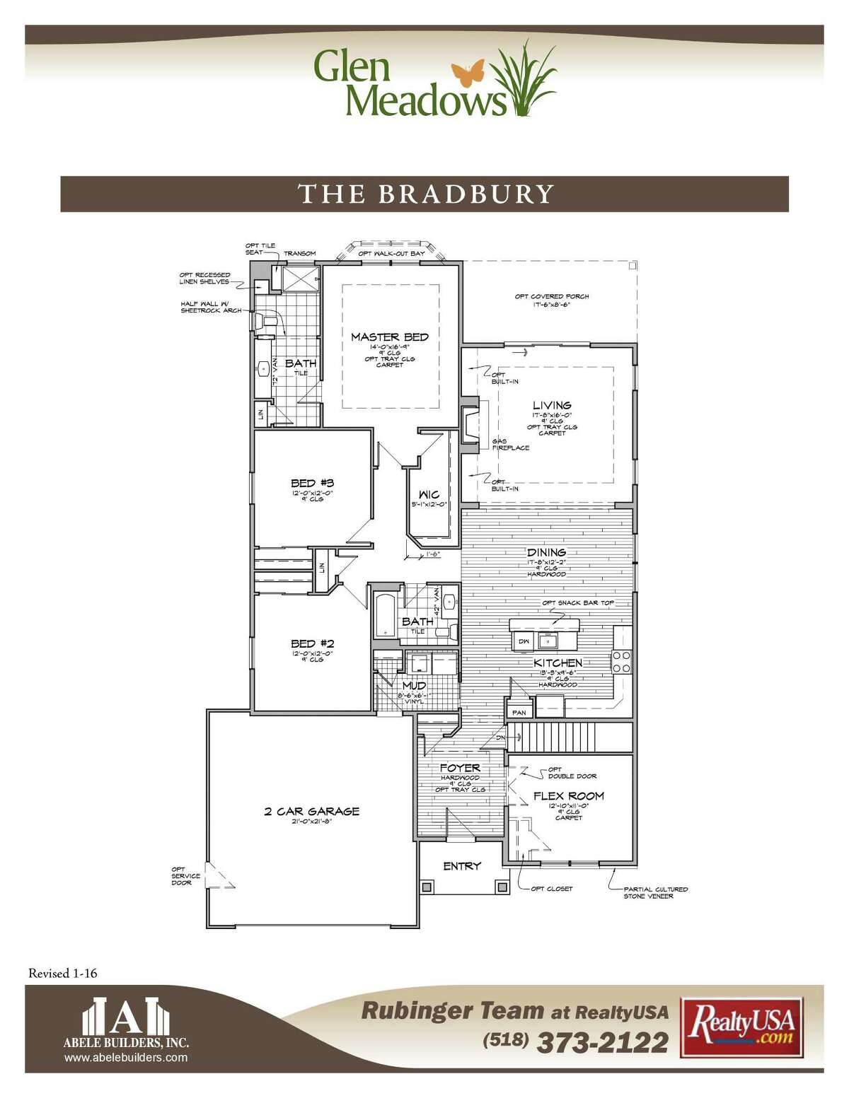 Floor plan for the home by Abele Builders in the 2016 Parade of Homes.