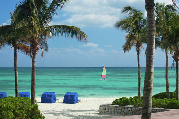 The Westin Grand Bahama Island Our Lucaya Resort allows swimming with riveting views. Westin and Sheraton hotels share spacious oceanfront grounds at Lucaya. On Thursday, May 26, 2016, Vacation Express relaunched its weekly nonstop flight to Grand Bahama Island.