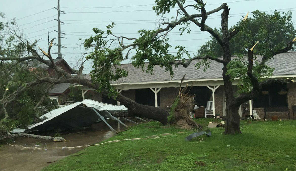 A tornado damaged a number of homes in the Wheeler Ridge neighborhood in Bryan Texas, Thursday, May 26, 2016.