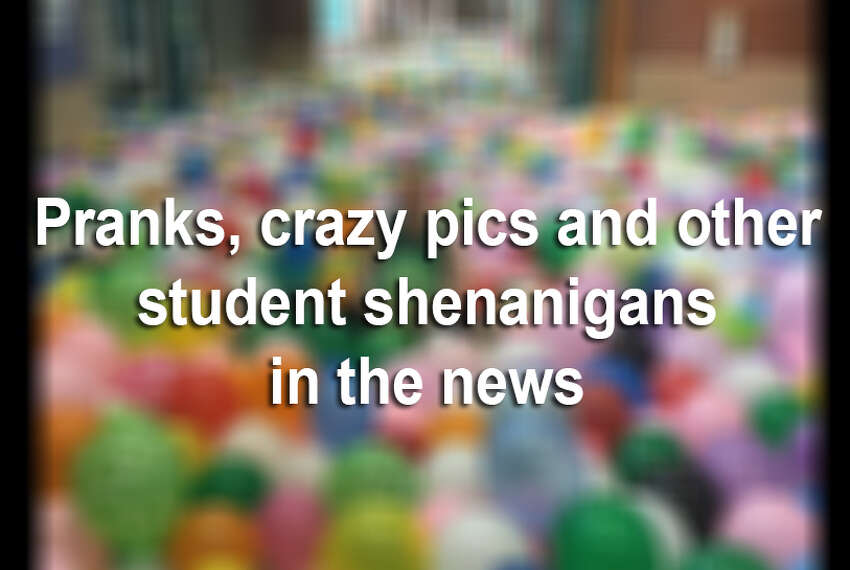 The 2016 school year has seen some pretty bizarre senior pranks, yearbook photos and other student shenanigans.Here's a roundup of the craziest so far.