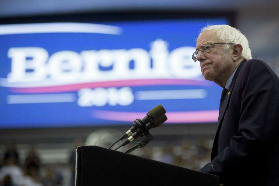 Senator Bernie Sanders, an independent from Vermont and 2016 Democratic presidential candidate, pauses while speaking during a campaign event at Penn State in University Park, Pennsylvania, U.S., on Tuesday, April 19, 2016. Democrat Hillary Clinton and Republican Donald Trump appear to be heading for home-turf wins in the New York presidential primaries, while Brooklyn native Sanders hopes to build momentum against Clinton and GOP underdogs Ted Cruz and John Kasich look to deprive Trump of delegates. Photographer: Andrew Harrer/Bloomberg *** Local Caption *** Bernie Sanders Photo: Andrew Harrer, Bloomberg / © 2016 Bloomberg Finance LP