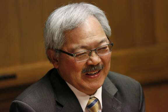 Mayor Ed Lee discusses various aspects of the current state of the city and his plans to resolve issues during a meeting with the San Francisco Chronicle's Editorial Board May 26, 2016 in San Francisco, Calif.