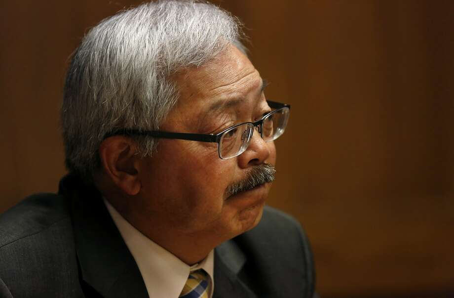 Mayor Ed Lee answers questions during a meeting with the San Francisco Chronicle's Editorial Board May 26, 2016 in San Francisco, Calif. Photo: Leah Millis, The Chronicle