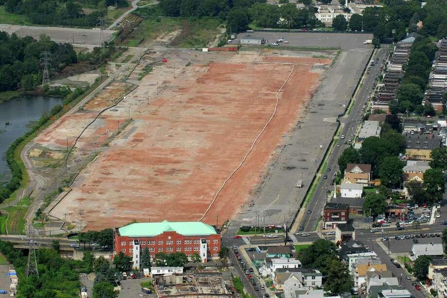 Former General Electric plant on Boston Avenue in Bridgeport has been demolished. Photo: Morgan Kaolian / AEROPIX / Connecticut Post
