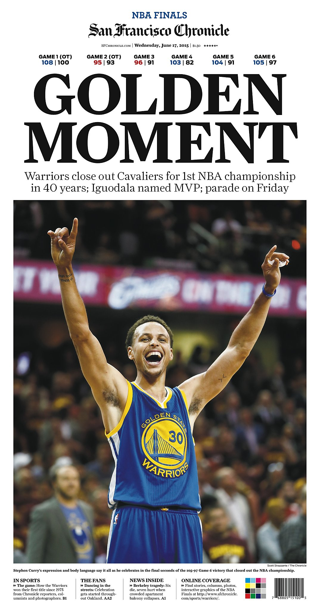 Chronicle Covers: A Look Back At The 2015 Warriors' Title