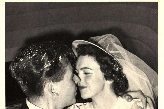 Jane and Gordon Gottschalk wed in LaCrosse, Wisconsin in 1948. In 1948, Jane was given �The Wedding Embassy Year Book,� from the department store where she registered for gifts. It�s a how-to guide for brides covering wedding etiquette, budget and fashions.