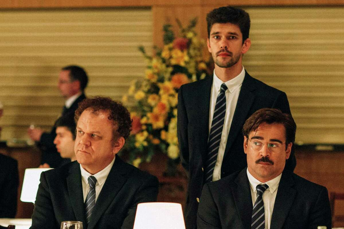 THE LOBSTER: 5 stars Colin Farrell and Rachel Weisz star in director Yorgos Lanthimos' creepy-funny parable about a future society in which people are required to find a romantic partner or be turned into an animal of their choice. (R) Read the review:'Lobster' cracks shell of authoritarian absurdity