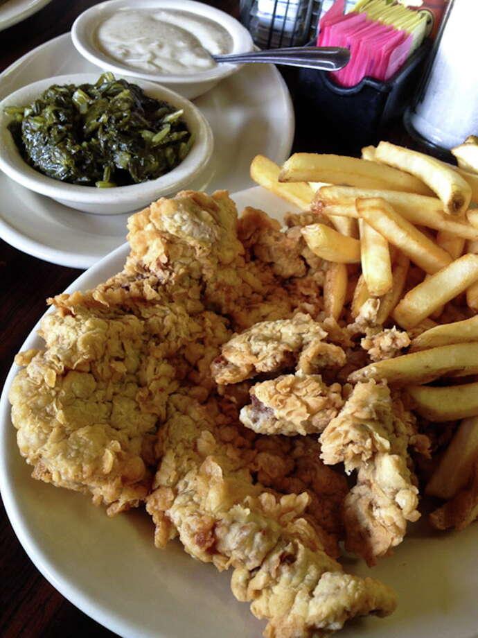 The chicken fried steak at Triple A. Photo: J.C. Reid
