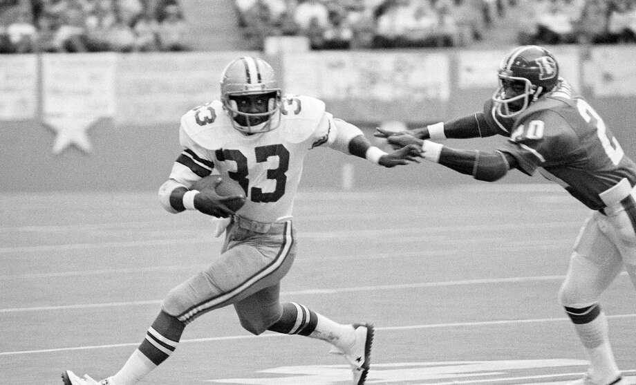 Seahawks trade down in 1977 Running back Tony Dorsett made it known that he didn't want to play for the Seahawks. So Seattle ended up trading down its second selection to land picks that turned out to be guard Steve August, offensive tackle Tom Lynch, linebacker Terry Beeson, receiver Duke Ferguson, center Geoff Reece and linebacker Pete Cronan.  Dorsett went on to have a Hall of Fame career. All those players the Seahawks got? Mostly average NFL players. Photo: Associated Press File Photo / AP
