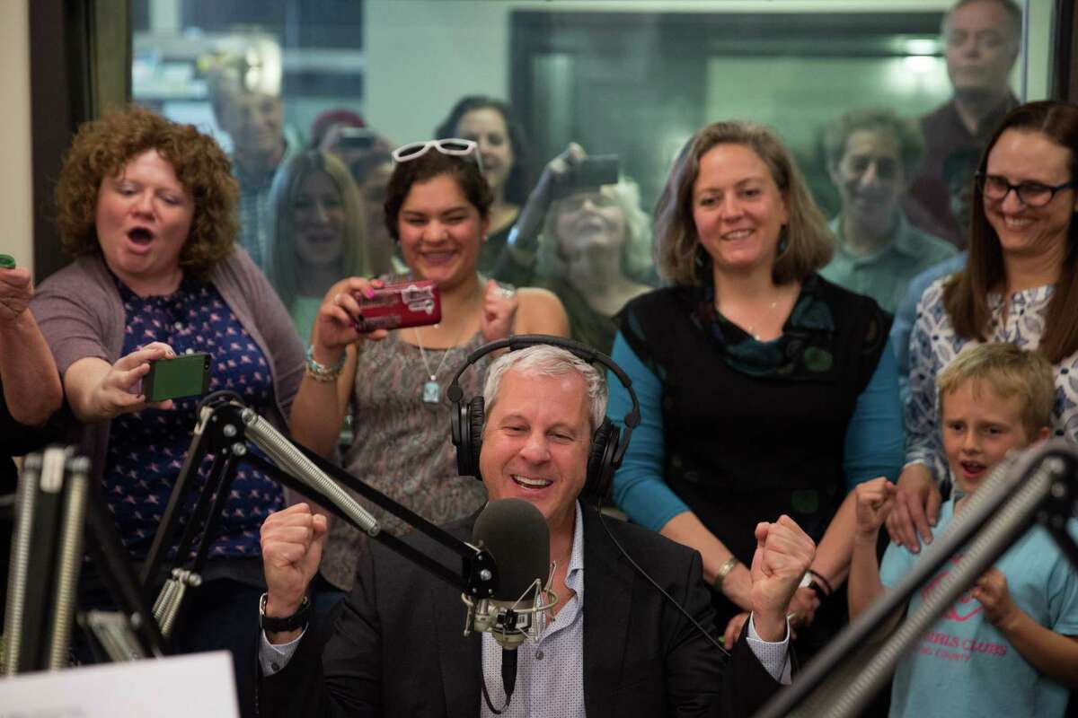 KPLU General Manager Joey Cohn announces on air that the SAVE KPLU campaign successfully raised its goal of $7 million at KPLU on Thursday, May 26, 2016. The money enabled the Friends of 88-5 FM community group to place an offer on the license from Pacific Lutheran University. The station, now known as KNKX, will soon relocate away from the PLU campus.