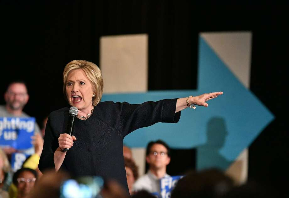 Democratic presidential candidate Hillary Clinton speaks during a rally in San Jose, California on May 26, 2016.  / AFP PHOTO / JOSH EDELSONJOSH EDELSON/AFP/Getty Images Photo: JOSH EDELSON, AFP/Getty Images