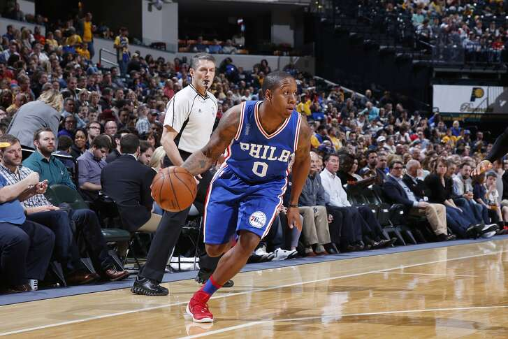 INDIANAPOLIS, IN - MARCH 21: Isaiah Canaan #0 of the Philadelphia 76ers handles the ball against the Indiana Pacers during a game at Bankers Life Fieldhouse on March 21, 2016 in Indianapolis, Indiana. The Pacers defeated the 76ers 91-75. NOTE TO USER: User expressly acknowledges and agrees that, by downloading and or using the photograph, User is consenting to the terms and conditions of the Getty Images License Agreement. (Photo by Joe Robbins/Getty Images)