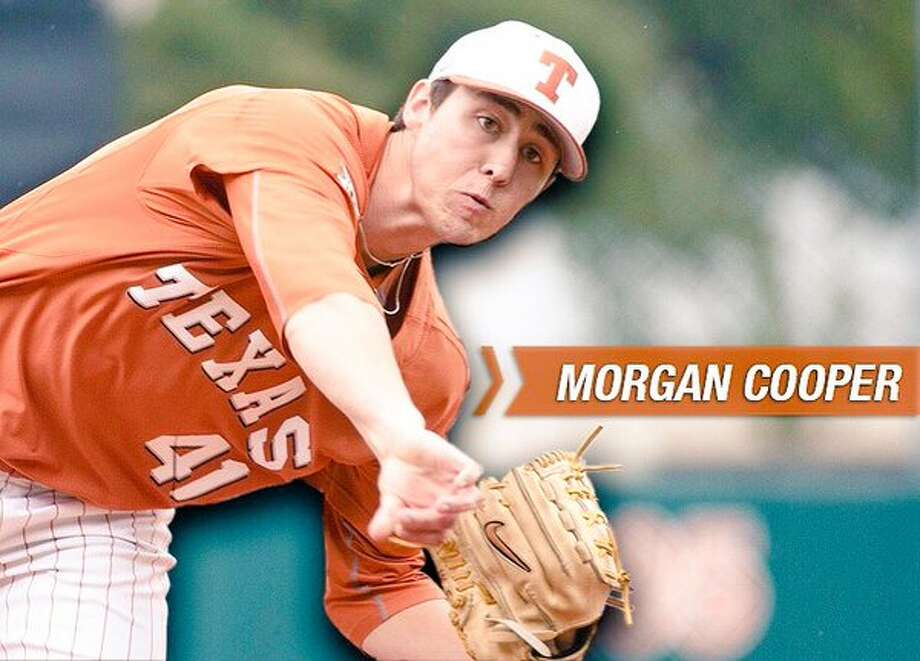 Texas freshman right-hander Morgan Cooper's complete game victory kept the Longhorns' season alive with a triumph over Baylor in an elimination game at the Big 12 championships. (Texas SID archives)
