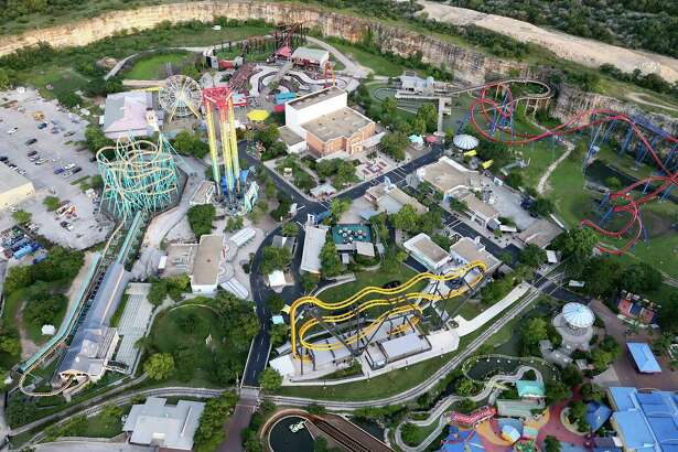 Six Flags Entertainment Corp. announced potential plans Wednesday to develop a second Six Flags park in China as the Grand Prairie-based theme park group eyes international expansion. Pictured, an aerial view of Six Flags Fiesta Texas on Friday May 20, 2016.