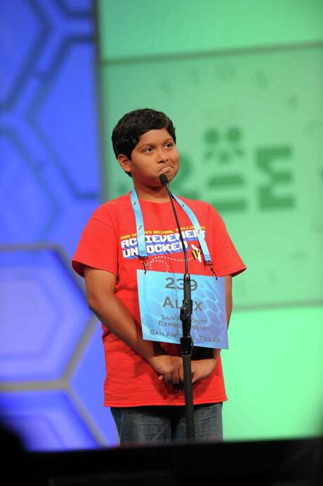 Alex Iyer, 13, from Boerne, c0ompetes in the cripps National Spelling Bee in National Harbor, Md.