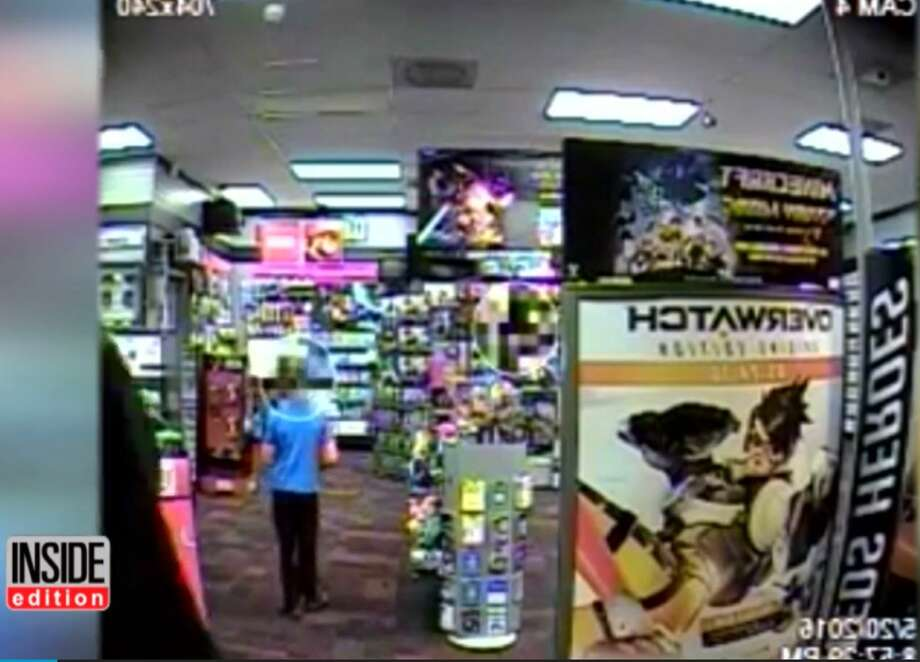 7-year-old tries to punch armed robber in Game Stop Photo: YouTube Video/Inside Edition