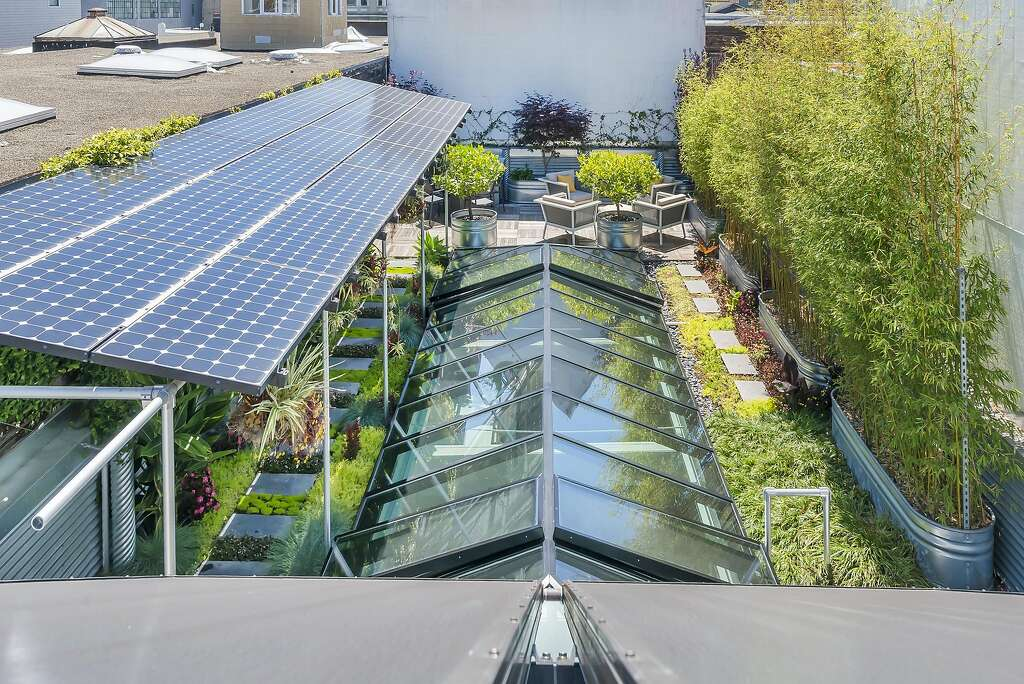 The home relies on solar power and includes a 550-gallon tank for storing and redistributing greywater. Photo: Olga Soboleva / Vanguard Properties
