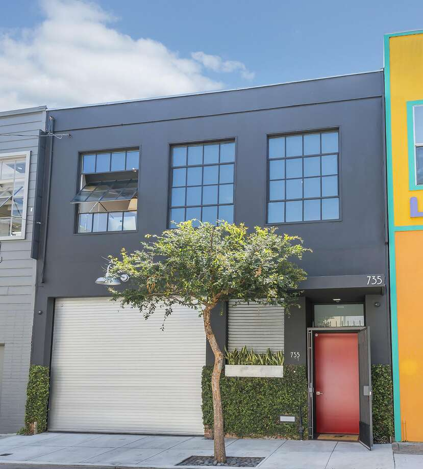 735 Clementina St. is a repurposed warehouse now hosting a two story residence. Photo: Olga Soboleva / Vanguard Properties
