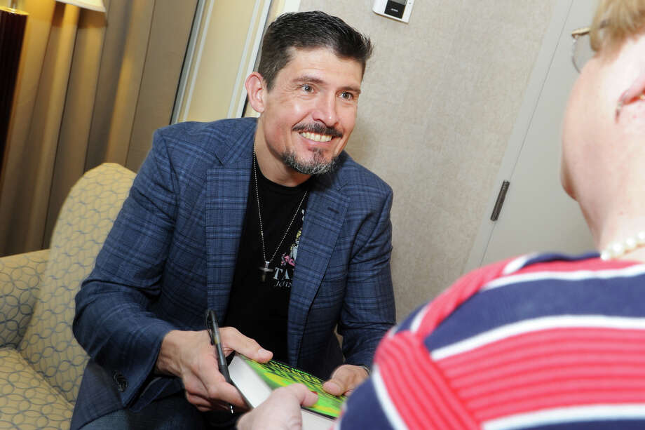 """Kris """"Tanto""""  Paronto, a military contractor and former Army Ranger who survived the 2012 terrorist siege in Benghazi, spoke at the Republican's annual Lincoln Day Dinner in Bridgeport, Conn. on Thursday, May 26, 2016. Photo: Ned Gerard / Hearst Connecticut Media / Connecticut Post"""