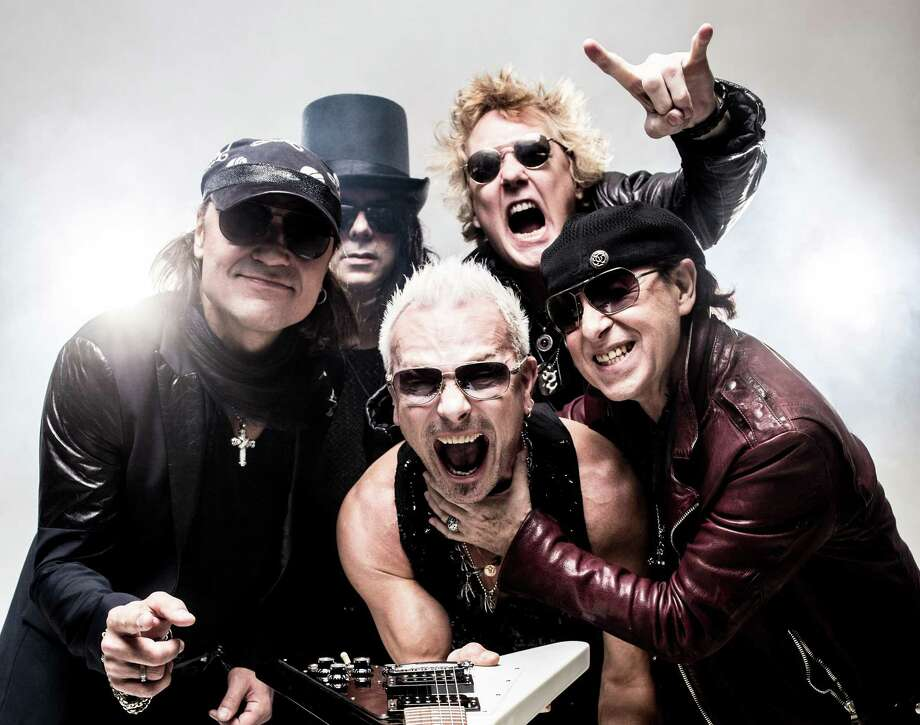 "Scorpions: German hard rock band, a longtime San Antonio favorite, is celebrating its 1990 album ""Crazy World"" on tour. The album produced two of the band's biggest hits, ""Wind of Change"" and ""Send Me an Angel."" Of course, S.A. rock fans had been following the band since the '70s, when songs such as ""Sails of Charon,"" ""Steamrock Fever"" and ""Lovedrive"" screamed from car radios tuned to KMAC and KISS. With Queensryche.