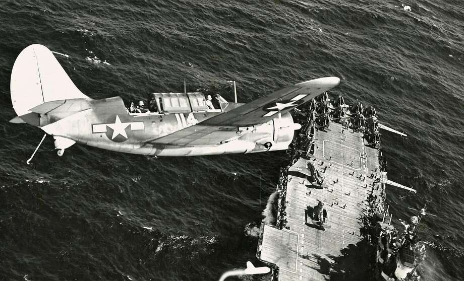 """Preparing to land on the Hornet, from """"Eleven,"""" a documentary by George Retelas. Photo: US Navy"""