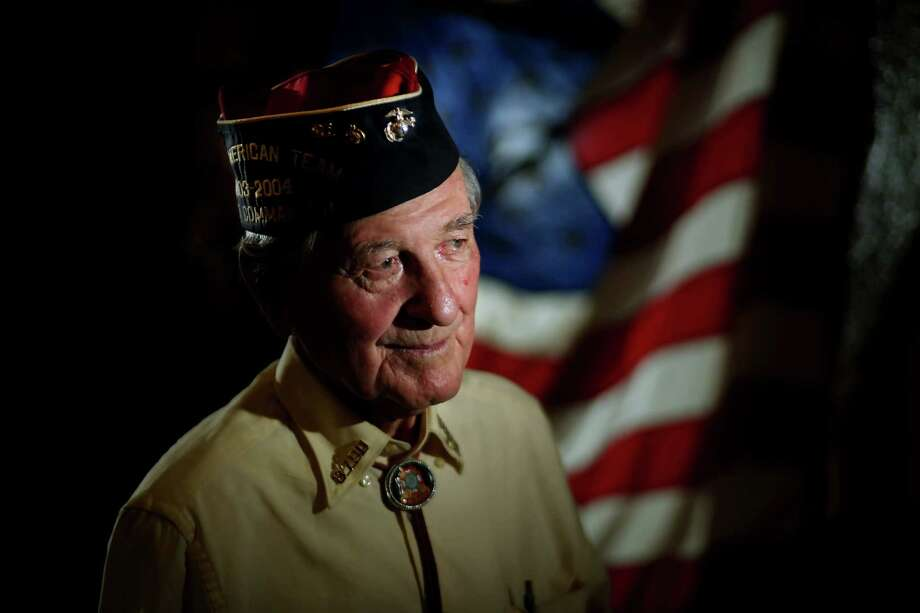 """WWII veteran Bob Cook, 91, agreed the use of atomic bombs was necessary but said of the president's visit: """"I think it's a nice gesture and it's not a gesture of weakness."""" Photo: Gary Coronado, Staff / © 2015 Houston Chronicle"""