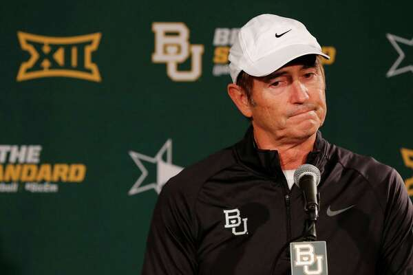 Baylor coach Art Briles responds to questions during a press conference on Dec. 7, 2014, in Waco.