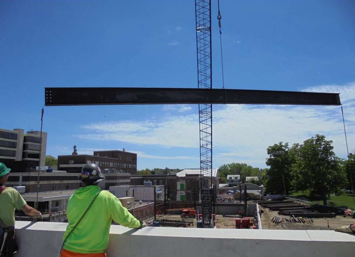 On May 18, Heinrich Medicus, 96, was able to see his $10 million donation to St. Peter's Health Partners start to come to life for a beam signing for the coming project. (Submitted photos)