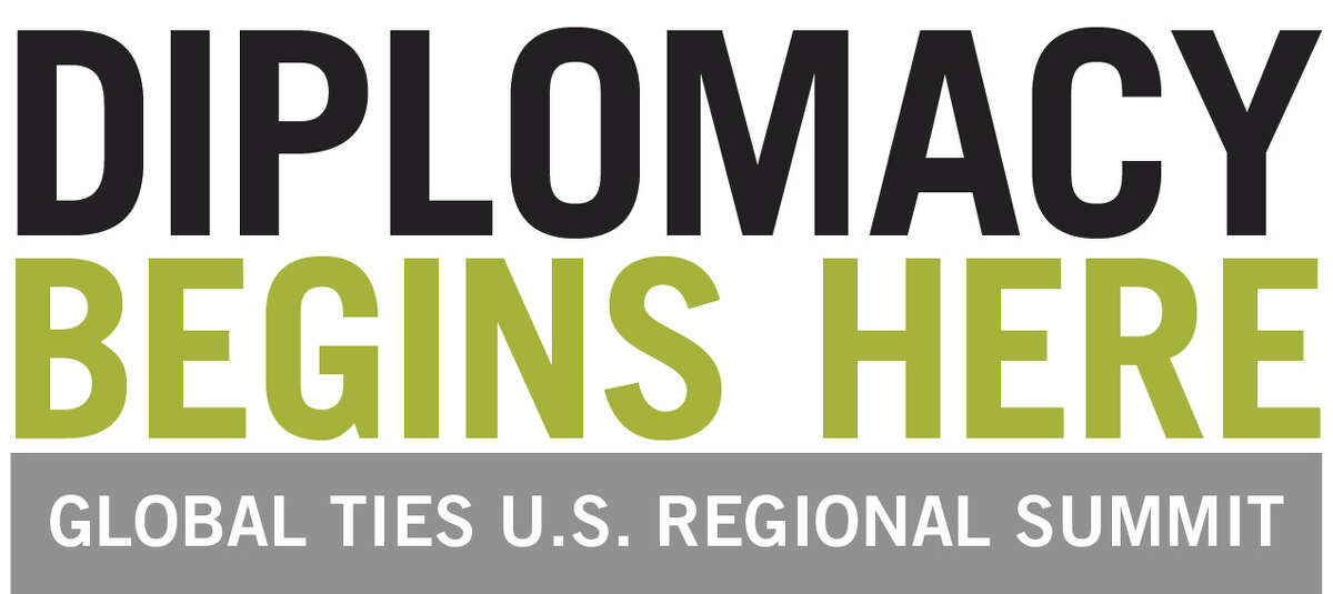 The logo for the June 1 diplomacy summit to be held at the University Heights campus in Albany. (Photo courtesy of Global Ties U.S.)