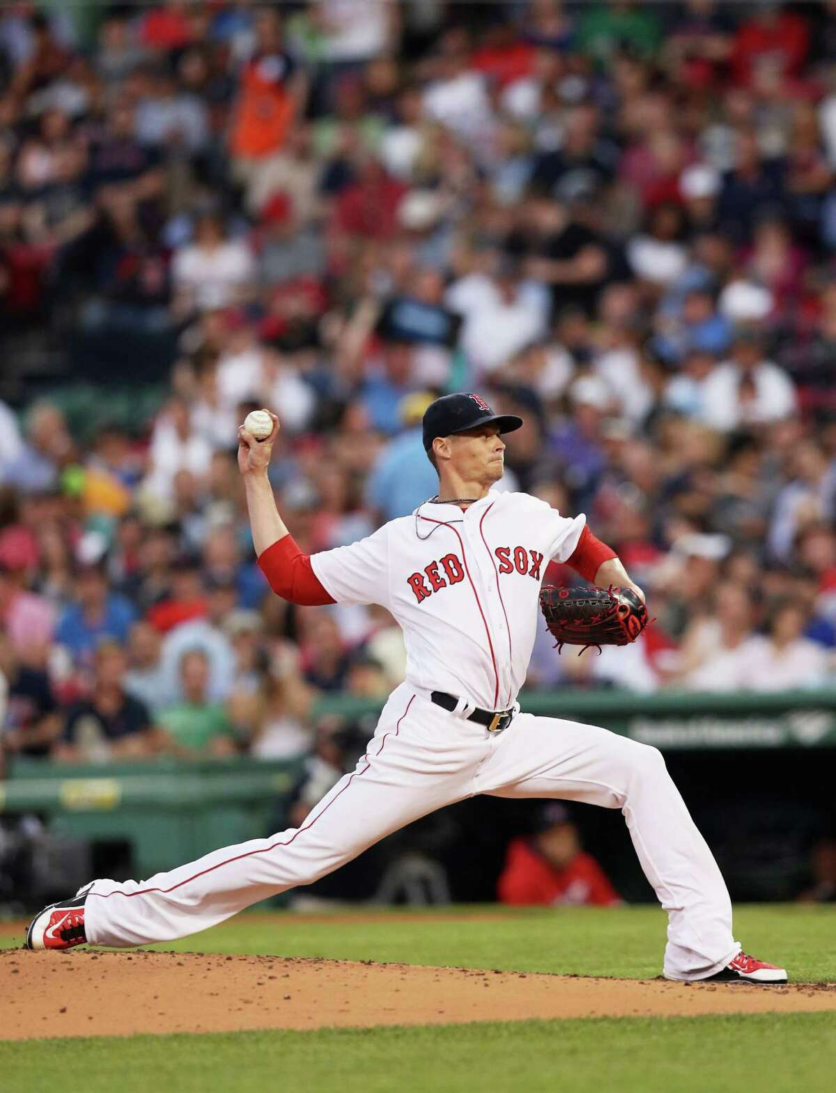 BOSTON, MA - MAY 26: Clay Buchholz #11 of the Boston Red Sox pitches against the Colorado Rockies during the fourth inning at Fenway Park on May 26, 2016 in Boston, Massachusetts. (Photo by Maddie Meyer/Getty Images) ORG XMIT: 607678277