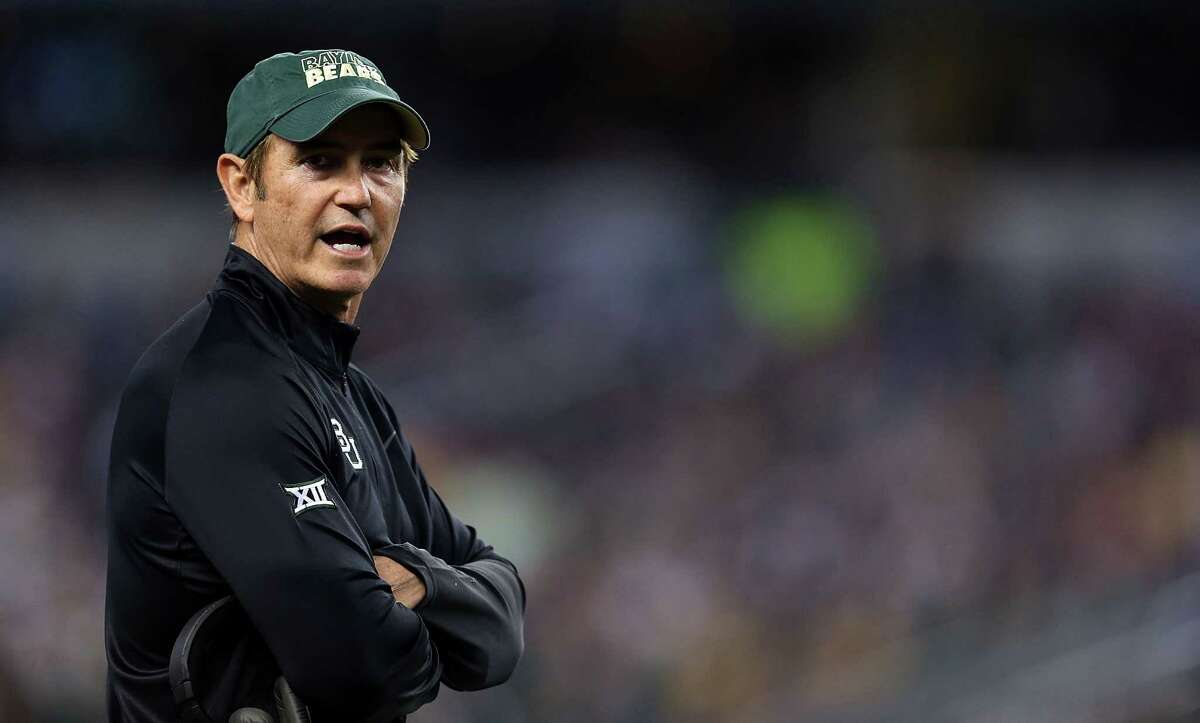 ARLINGTON, TX - JANUARY 01: Baylor Bears head coach Art Briles looks from the sideline against the Michigan State Spartans during the first half of the Goodyear Cotton Bowl Classic at AT&T Stadium on January 1, 2015 in Arlington, Texas. (Photo by Sarah Glenn/Getty Images)