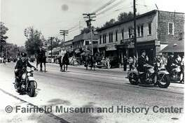 A photo from the Fairfield Museum and History Center's collection shows police marching in the 1947 Memorial Day parade.