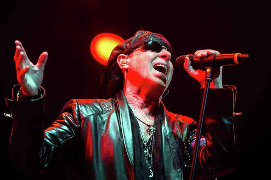 "Scorpions singer Klaus Meine is back in action, and the band has rescheduled a ""Crazy World"" tour date for San Antonio. Photo: Balazs Mohai, SUB / AP / MTI"